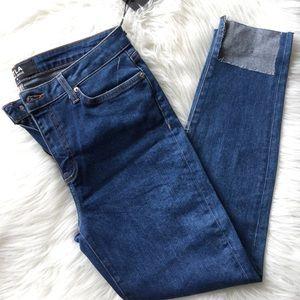 DTLA Step Hem Mid Rise Jeans